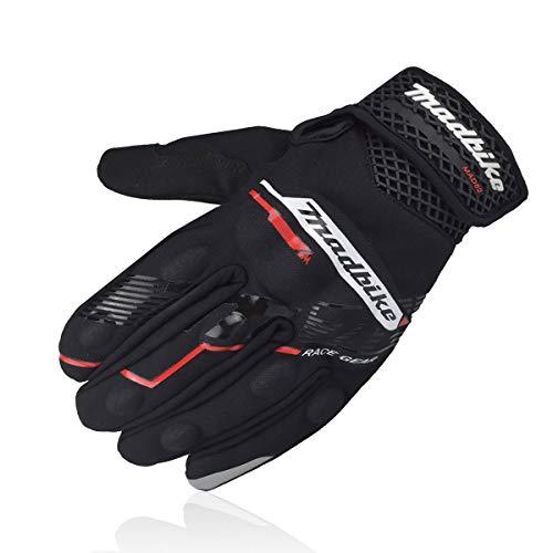 MADBIKE RACING EQUIPMENT Guantes para montar en motocicleta con pantalla táctil Dedo completo para hombres y mujeres Guantes para motos deportivas (Red, XL)