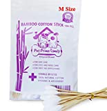 Cotton Buds 100 Pieces 6' Bamboo Handle Great for Dog Ears,Premium 100% Cotton (Medium Size) by Prime Shopping Online