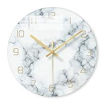 掛け時計 壁時計非カチカチaaバッテリ駆動クリエイティブデザインアート装飾用リビングルームの寝室ラウンドアクリル時計 置時計 (Color : C)