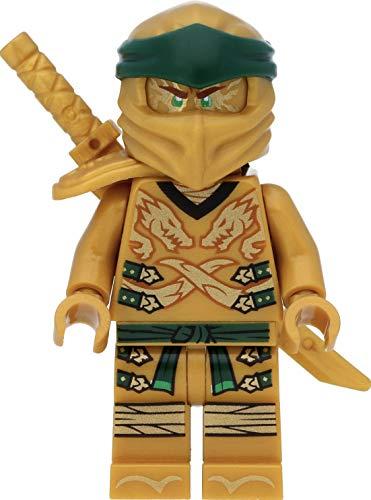 LEGO Ninjago Minifigur: Lloyd (Goldener Ninja) mit Schulterrüstung und Schwertern