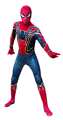 Mens Spider-Man 2nd Skin Superhero Suit Deluxe Costume X-Large 50 Red