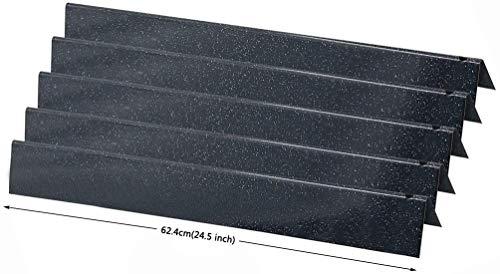 GFTIME 62,4 cm 7540 Flavor Bars Ersatz für Weber Genesis 300 Genesis E-310, E-320, S-310, S-320, EP, CEP-310 und 320 (mit seitlichen Bedienknöpfen), 7539, 65935, porzellanemailliert