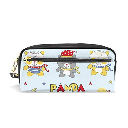 CHENHONG Pencil Case Printed Panda Dear Soft Makeup Bags Leather Pouch Case Bag Cosmetic Accessories Bag for Women Girls