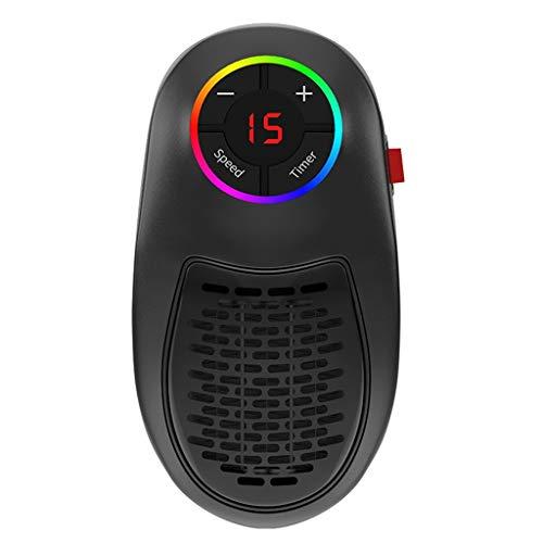Radiateur Soufflant Electrique Mini Portable 1000W - Chauffage En Céramique Avec Thermostat Réglable - Minuterie Programmable Sur 12 Heures - Air Soufflant Ventilateur Chauffe (EU Prise) Serria