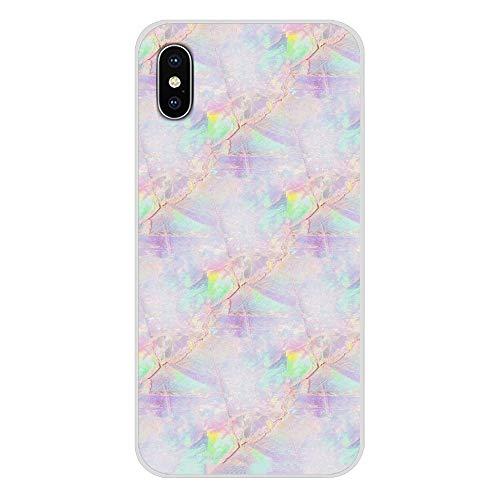 HUAI For Samsung Galaxy S2 S3 S4 S5 S6 S7 S8 S9 S10E Lite Plus Accesorios de Shell del teléfono Cubiertas de Piedra del ópalo iridiscentes (Color : Images 5, Material : For Galaxy S9 Plus)