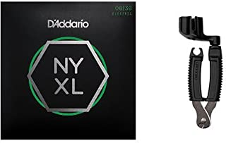 D'Addario NYXL0838 Electric Guitar Strings, Extra Super Light, 8-38 and Pro-Winder String Cutter Bundle