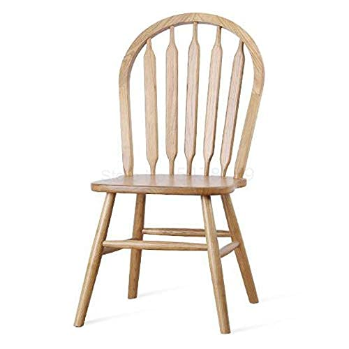 Renovation House Modern Chair 600 Silla de comedor de restaurante americano retro simple hotel de ocio silla de tienda de té silla de madera maciza silla de respaldo silla windsor (Color: Old Farmer