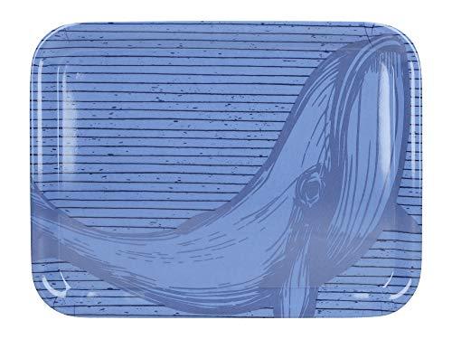 Creative Tops C000465 OTT Plateau de Service Petit Modèle Baleine Plastique Bleu