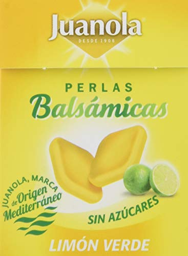 Juanola Perlas Balsámicas, Limón Verde, Sin Azúcar, 25 GR