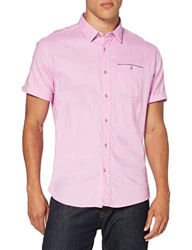 Springfield Daily Dobby Franquicias-C/70 Camisa Casual, Rosa (Pink 70), Large (Tamaño del fabricante: L) para Hombre