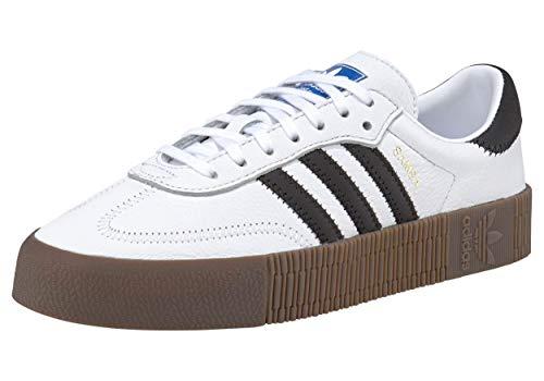 Adidas Sambarose, Zapatillas Clasicas Mujer, Blanco (Cloud White/Core Black/Gum5), 38 2/3 EU