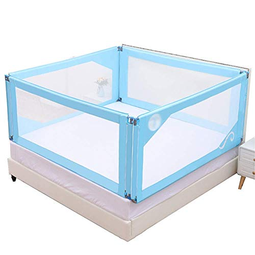 Best Buy! PNFP Baby Playpen Baby Anti-Fall Bed Guardrail Baffle Newborn Infant Child Prevention Big Bed Fence Baffle Strong and Durable (Color : Two-Sided Fence, Size : 180×190cm)
