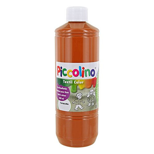 Pigcolino Textil Color - Pintura Textil (500 ml), Color marrón Terracota