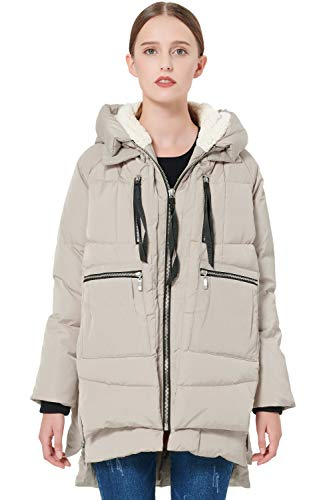 Orolay Women's Thickened Down Jacket Beige 2XL