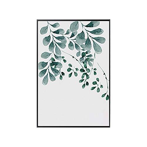 bdrsjdsb Leinwand Malerei Pflanzengrün Blätter Leinwandbild Kunst Poster Wand Büro Raumdekor 5# 40 * 50 cm