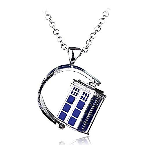 JULYSST Geheimnisvolle Polizei Box House Choker Halsketten Doctor Who Halskette für Frauen Männer Schmuck Halskette Zubehör