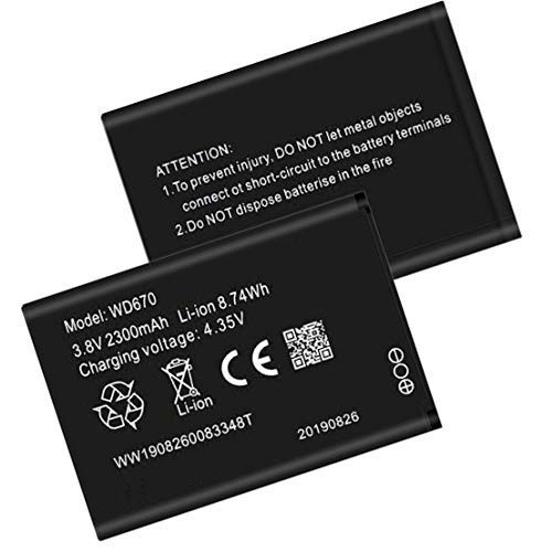 KD Accessories Mobile Battery Compatible with WD670 Airtal 4G Hotspot/Airtal Zte 2300mAh