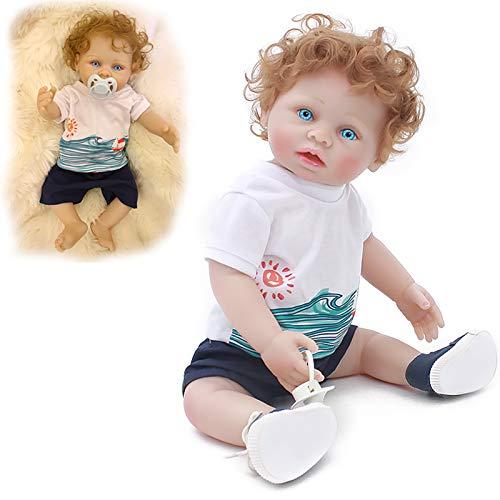 GUOHAPPY Renacer muñecas del bebé, Bebé de 16 Pulgadas Ponderada de Bebé de Renacimiento de Reborn con Accesorios Y Certificado de Adopción
