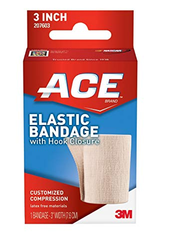 ACE 3' Elastic Bandage Wrap with Hook Closure, Beige