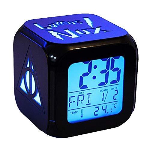 ZGSP 3D Stereo Alarm Clock LED Mute Night Light Fashion Technology Alarm Clock - Death Holy Device (Seven Colors)