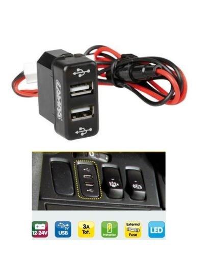 Einlassbares USB-Ladegerät mit 2 Anschlüssen 12/24 V, passend für MAN TGA TGM TGL TGS TGX