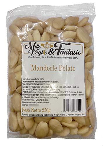 Mandorle Sgusciate e pelate Siciliane intere al naturale 1° scelta Frutta secca di alta qualità...