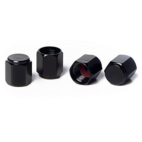 Circuit Performance VC5 Series Black Aluminum Valve Stem Caps (Set of 4)