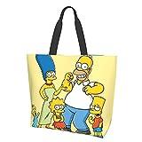 Anime Cartoon Simpsons Damen Mode Mädchen Reise Schule Lebensmittel Canvas Einkaufen Geschäft...
