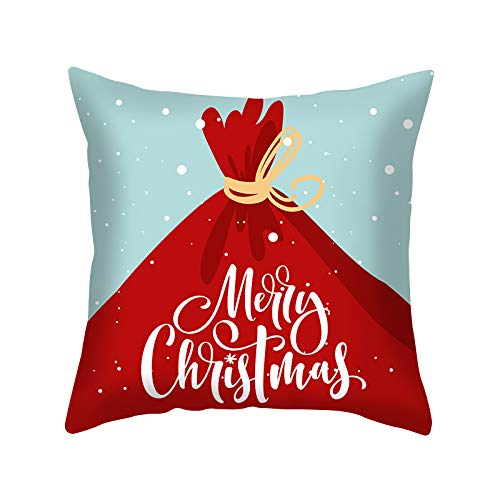 XINRJY European-Style Modern Minimalist Pillowcase, Hotel Bedroom Living Room Sofa Cushion Cover Christmas Home Decoration Stain Resistance