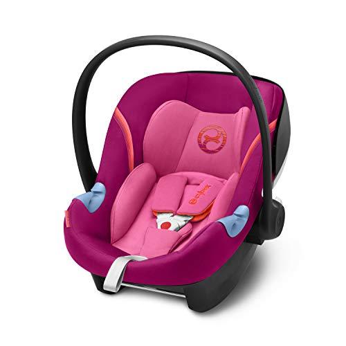 CYBEX Gold Siège Auto Coque pour Bébé Aton M i-Size, Réducteur Nouveau-Né Inclus, Pour les Enfants de 45 cm à 87 cm, 13 kg max., Passion Pink