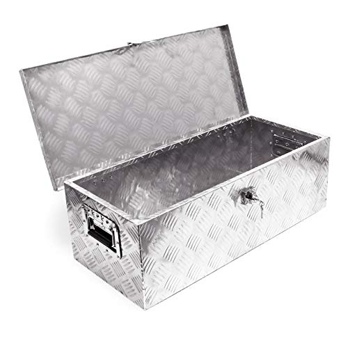 Caja herramientas aluminio 760x320x245mm Caja transporte Orden Taller Garaje Cofre Ordenación