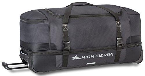 High Sierra Winslow 34' Wheeled Drop-Bottom Duffel (Black/Ash)