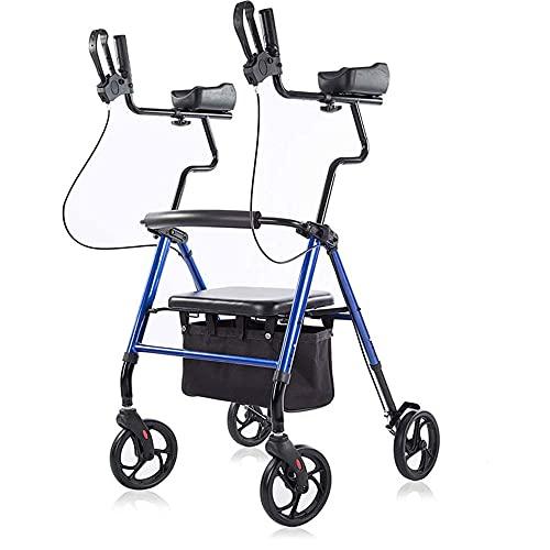 歩行車 アームフィット肘掛け付 室内外兼用 歩行器 歩行補助 アシストウオーカー シルバーカーー 歩行補助 抑速ブレーキ機能付 高さ調節可