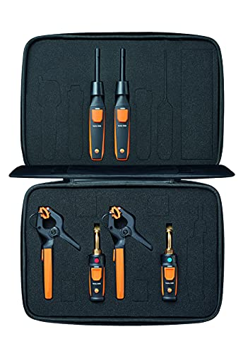 testo Smart Probe Kit I HVAC/R Test and Load Set for air Conditioning, Refrigeration and Heating System I Includes testo 115i, 549i and 605i – with Bluetooth