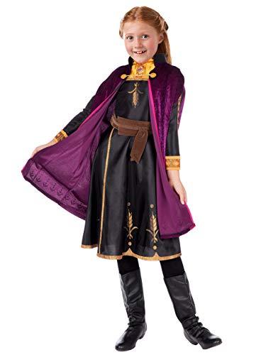 Disney Disfraz Vestido para Niñas Frozen Anna Multicolor 9-10 Años