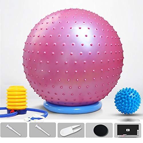 A prueba de explosiones engrosada Yoga de la bola Pelota de ejercicio, 55cm 65cm 75cm 85cm bola de yoga, anti-explosión bola de masaje Balance for la terapia de Pilates Parto terapia física silla de g