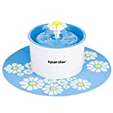 Pet Fountain Cat Water Dispenser - Healthy and Hygienic Drinking Water Flower Fountain Super Quiet Automatic Electric Water Bowl for Dogs, Cats, Birds and Small Animals (1.6L/Cylindrical