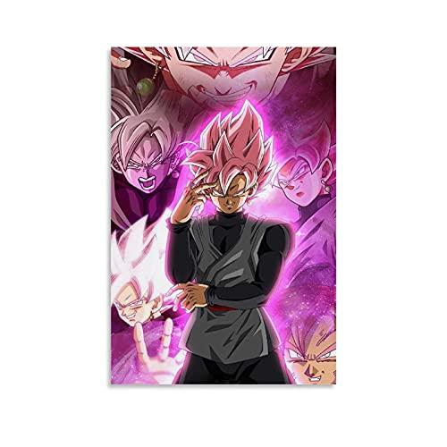 ASDZZ Black Goku SSJ - Póster decorativo de lienzo para pared de salón, póster para dormitorio, 20 x 30 cm