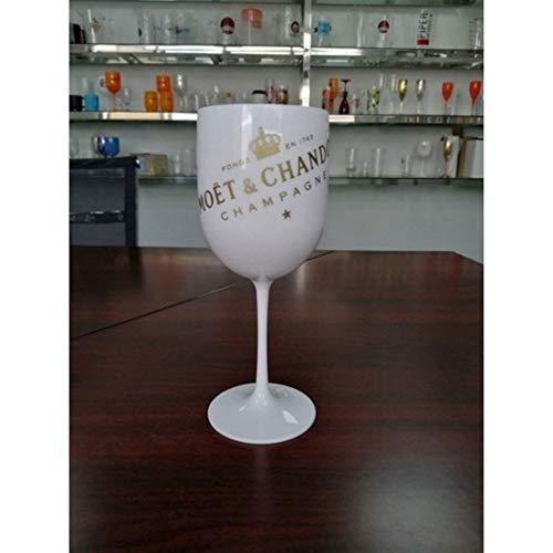 GladyStore 2 Stücke Champagner-Flöten, Weinglas-Champagner-Coupes Cocktail-Glas-Party Für Moet Champagne Flöten Weinbecher Becher-Plastikgläser Für Champagner (Color : White, Size : 2PCS)