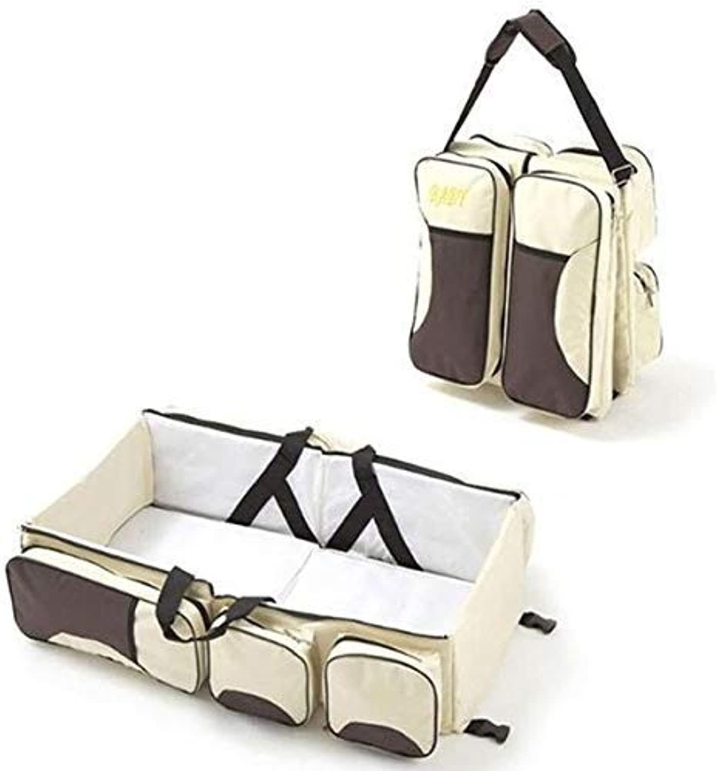 3 in 1 Multi-Functional Baby Changing Bags Travel Bed Mommy Bag Crib Carry Cot for 0-12 Months,A