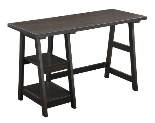 Convenience Concepts Trestle Desk, Espresso