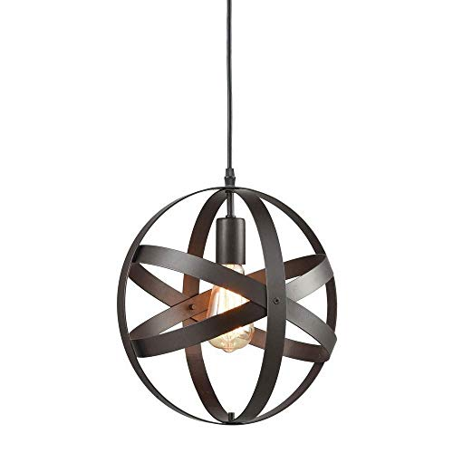 Industrial Metal hanglamp, sferische hanglamp, Rustieke Kroonluchter Vintage Opknoping Cage Globe plafond lichtpunt, for Keuken Eetkamer