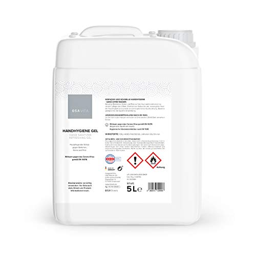 OSAVITA® Handhygiene Gel, Desinfektionsgel für Spendersysteme, schützt und pflegt - begrenzt viruzid (5 Liter)