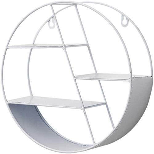 Poetance Estantería de Pared Hexagonal, decoración geométrica Mural para salón o Dormitorio Estante de Almacenamiento de Metal(Uña de Regalo)