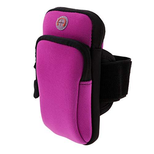 Amagogo Universal Sport Running Gym Riding Arm Band Funda para Soporte para Teléfono Celular - Púrpura