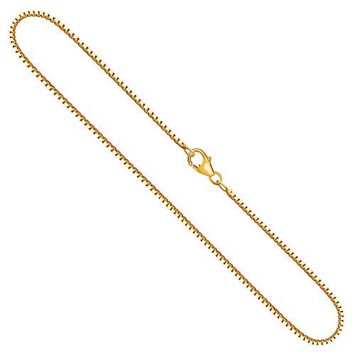 Collana modello Veneziana Donna in oro giallo,18 carati 750, largh. 1,4 mm, p. 8.6 g, lungh. 50 cm, con chiusura ad aragosta, marchio di garanzia made in Germany