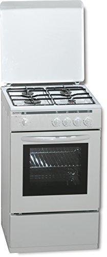 ROMMER VCH 450 Independiente Encimera de gas Blanco - Cocina (Cocina independiente, Blanco, Giratorio, Frente, Encimera de gas, esmalte de acero)