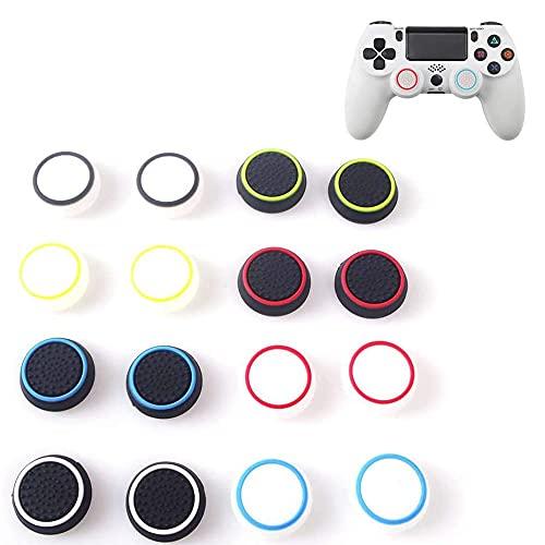 Tapa del joystick, 8 Pares 16 Piezas Tapas de agarre para el pulgar, Palillos de silicona para el pulgar, Thumbstick Grip Tapas Adecuado para el controlador de juegos PS4/PS3/PS2 / XBOX ONE /XBOX360