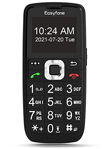 Easyfone Prime-A6 GSM Sim-Free Mobile Phones for Elderly Unlocked Senior Phones with SOS Button Small Basic Mobile Phone with Big Button Charging Dock