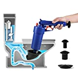 Air Power Closestool Plunger/Toilet Plunger- Drain Clog Remover, Multi-Function High Pressure Plunger Opener Pump for Toilets, Bathroom, Shower, Sink, Floor Drain, Bathtub, Kitchen Clogged Pipe